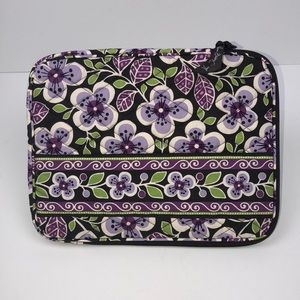 Vera Bradley medium electronic case plum petals